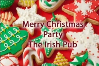 Merry Christmas Party in Irish Pub